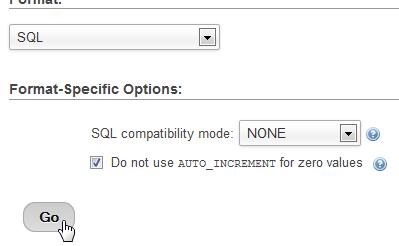 SQL Click GO