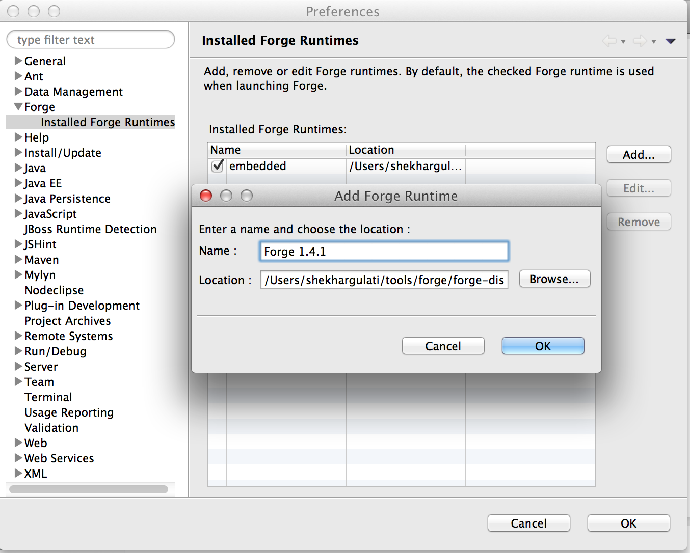 Add New Forge Runtime