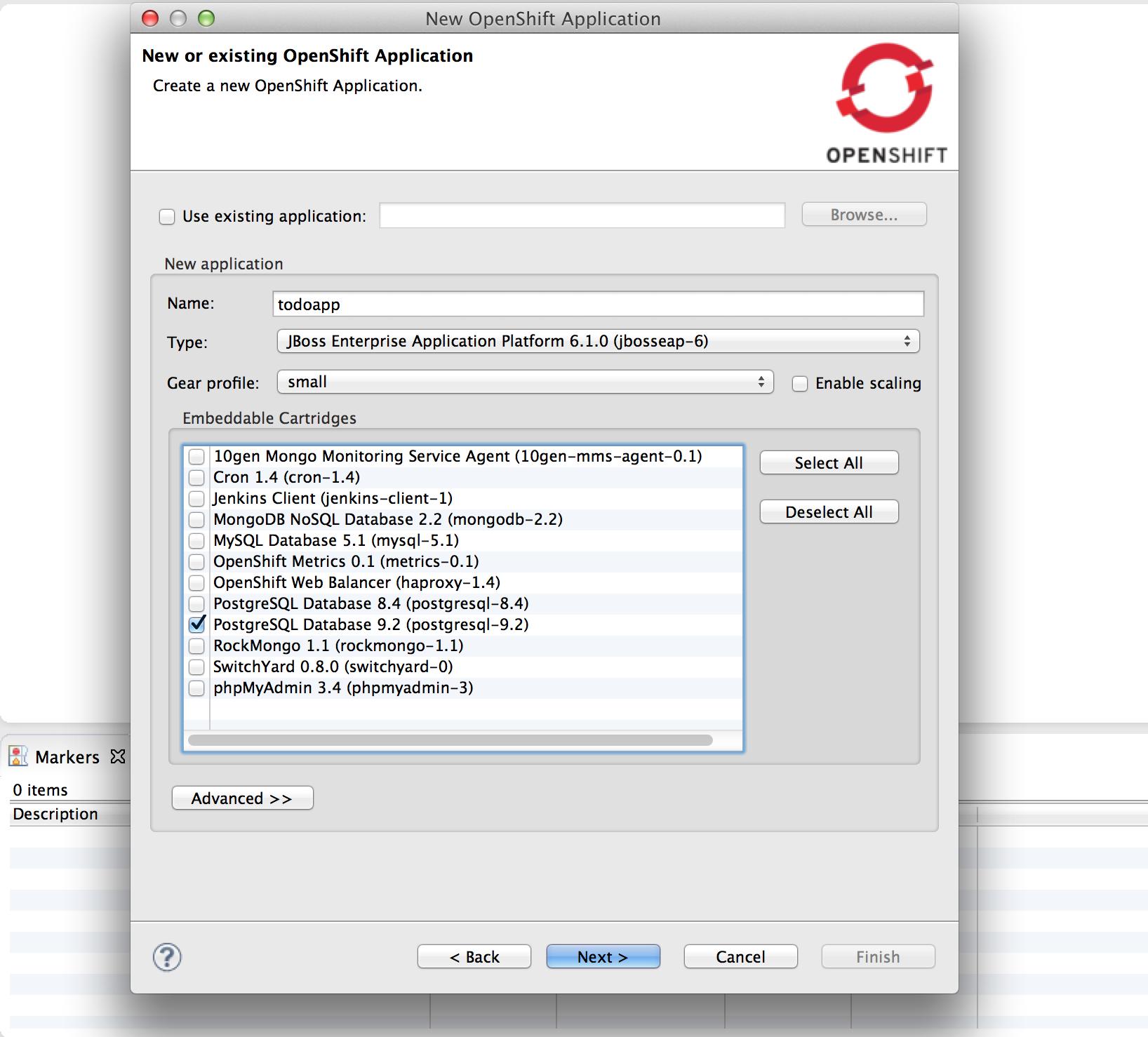Create an OpenShift Application