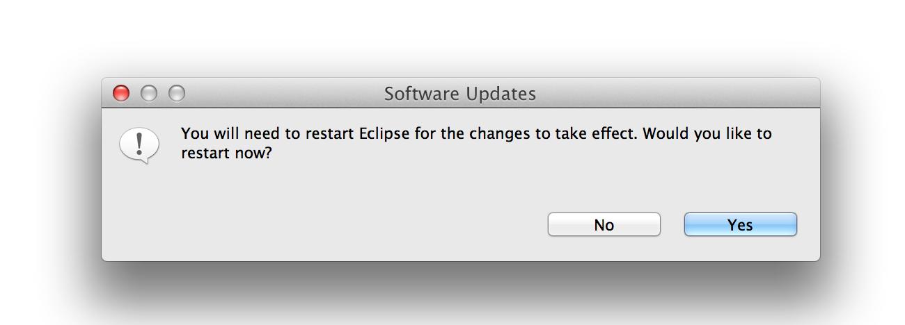 Restart Eclipse