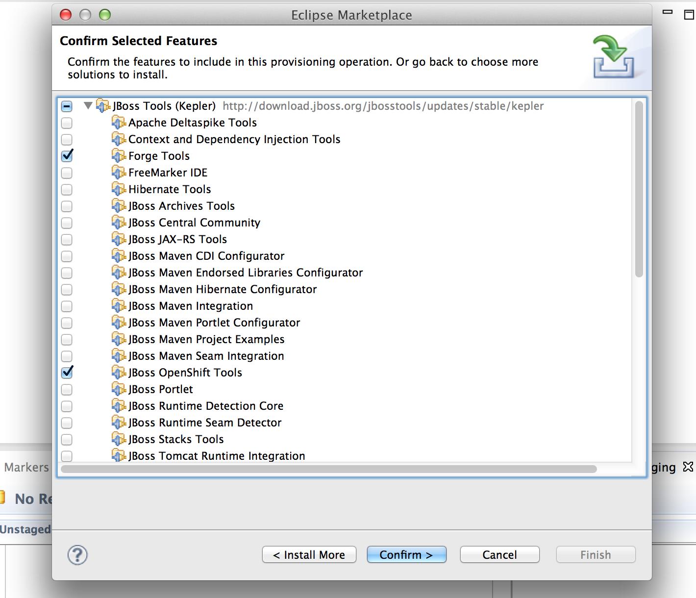 Select JBoss OpenShift Tools
