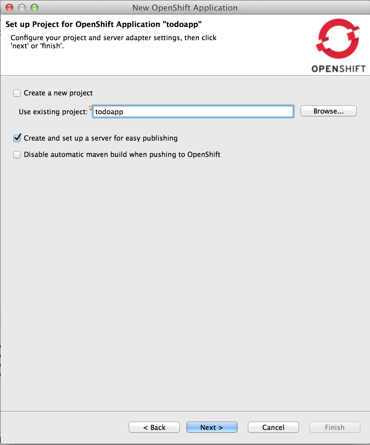 Setup your OpenShift Todoapp
