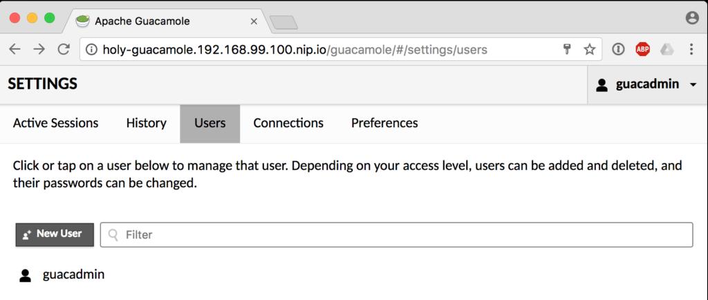 Guacamole Users