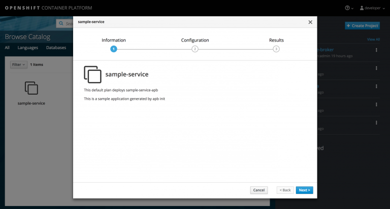 APB in CDK service catalog