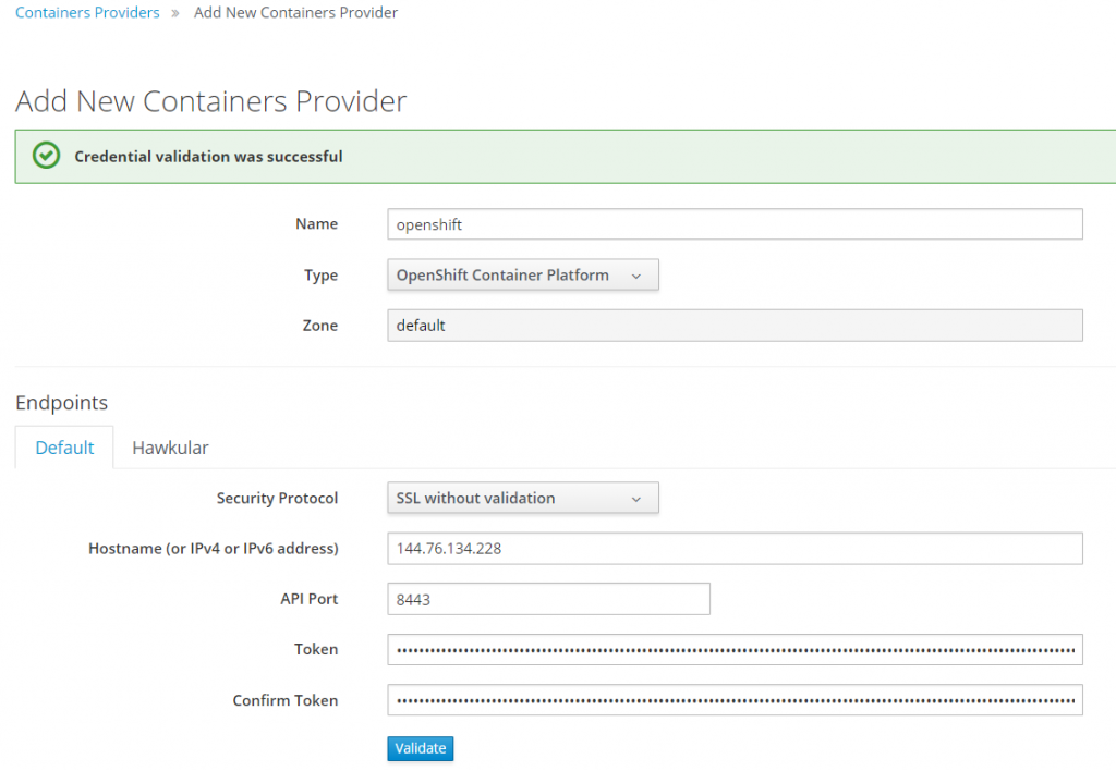 add new container provider 1