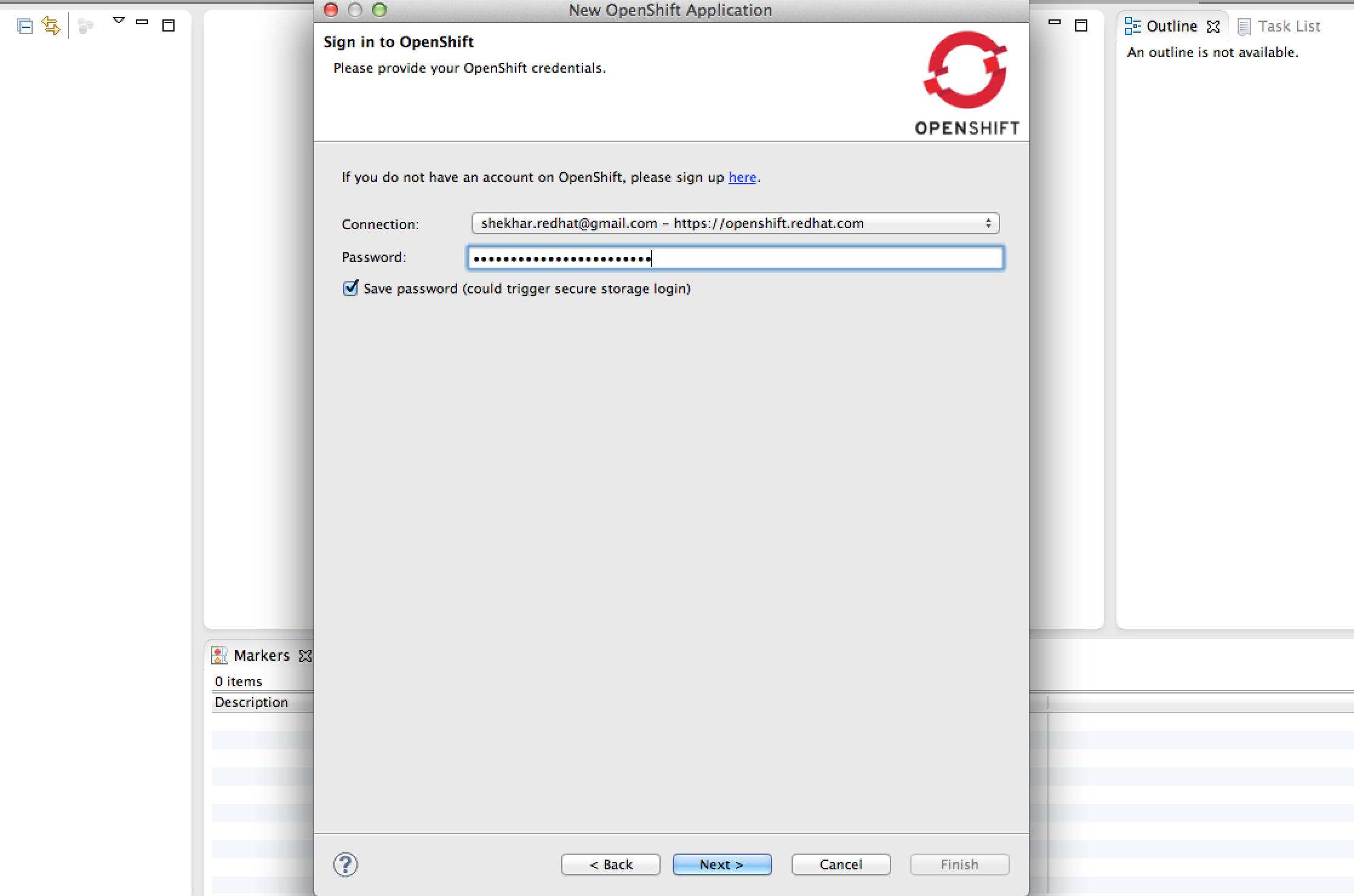Create App Step 1