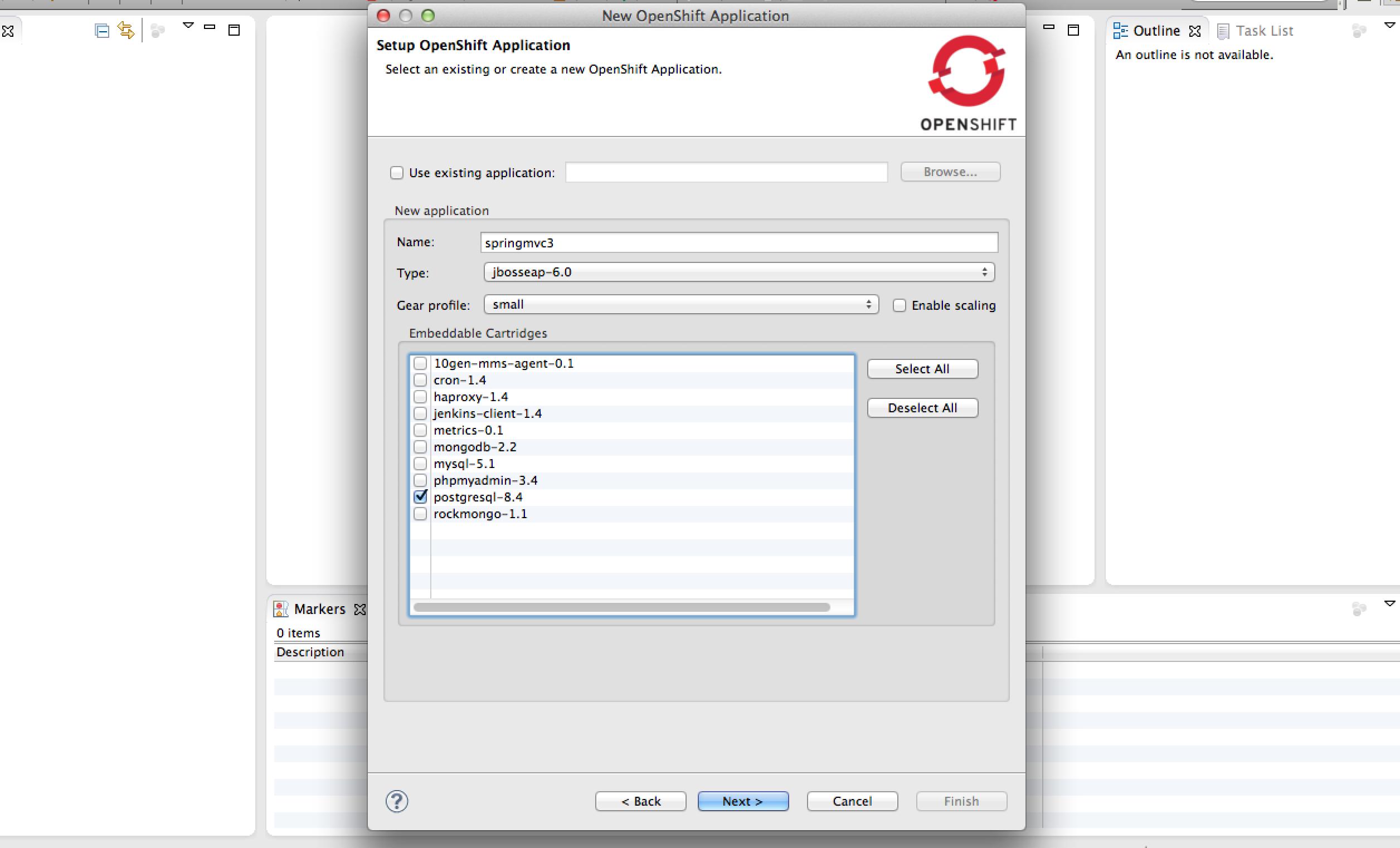 Create Application Step 2