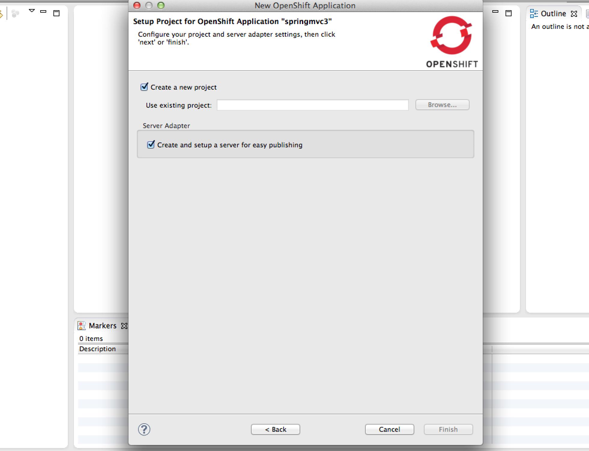 Create Application Step 3