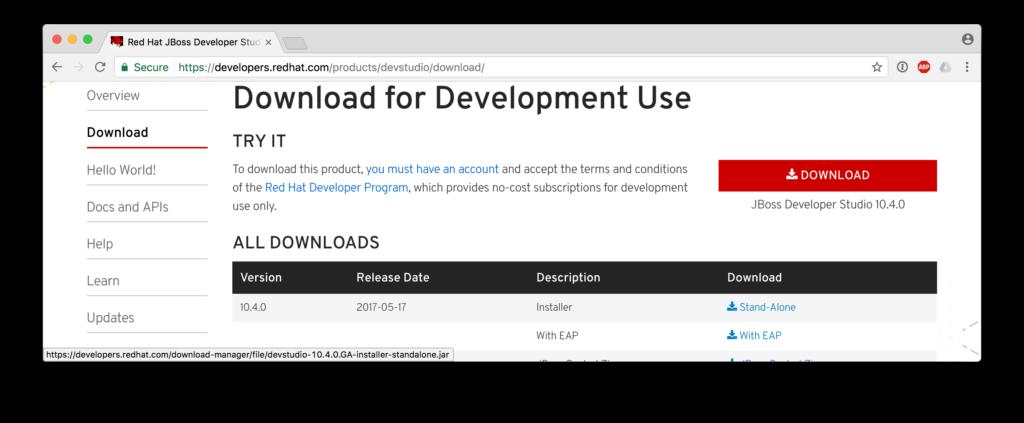 Developers JBDS Download