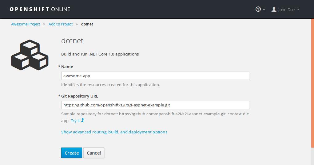 .NET example