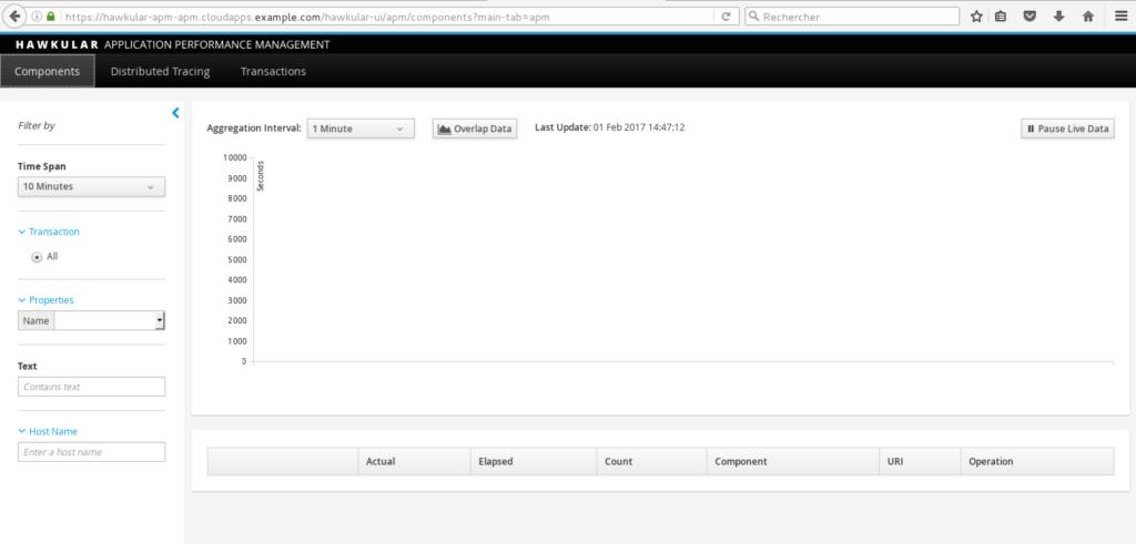 Hawkular APM UI without data