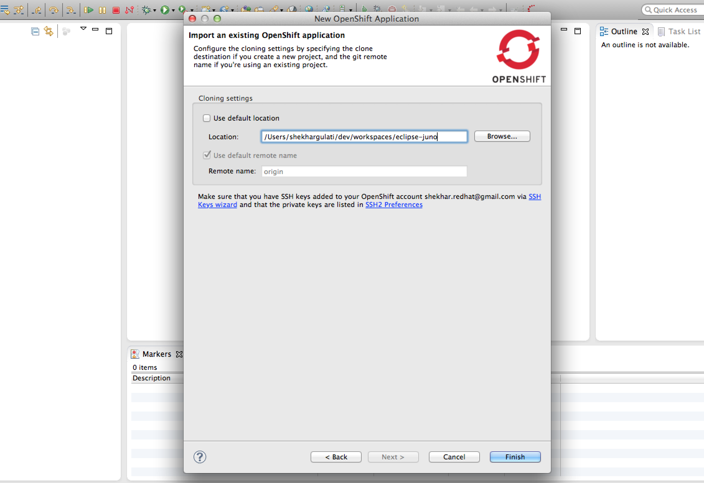 Import Application to Eclipse