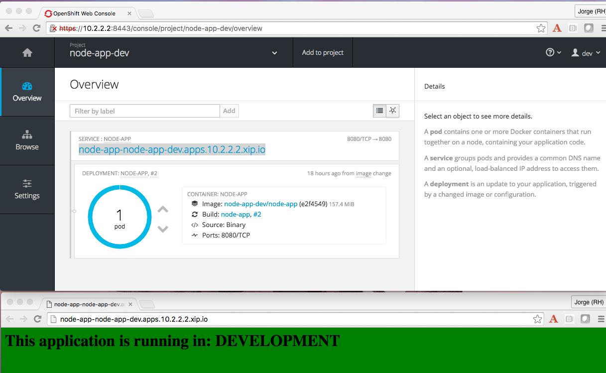 Example app in development