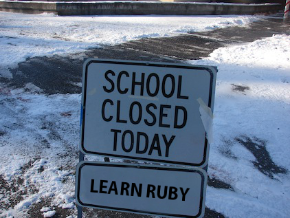 School closed today, learn Ruby picture