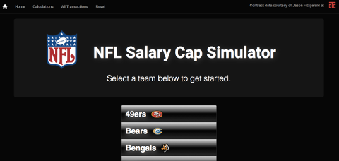 NFL Salary Cap Simulator