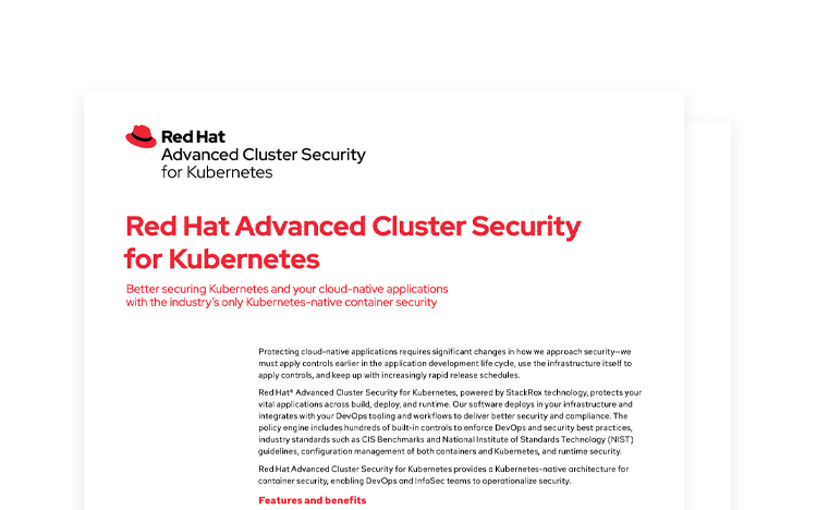 Red Hat Advanced Cluster Security for Kubernetes