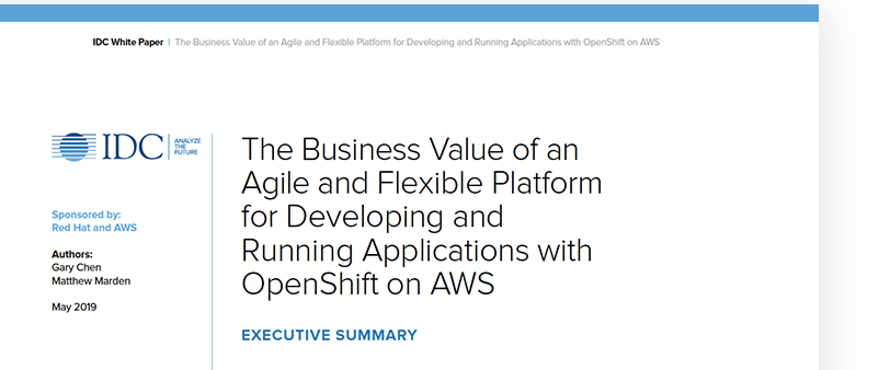 The Business Value of OpenShift on AWS